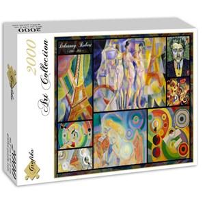 """Grafika (00841) - Robert Delaunay: """"Collage"""" - 2000 piezas"""