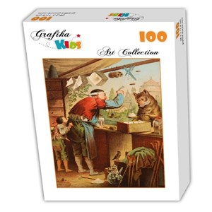 """Grafika Kids (00127) - Carl Offterdinger: """"The Wolf and the Seven Young Kids"""" - 100 piezas"""