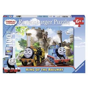 """Ravensburger (10536) - """"King of the Railway"""" - 100 piezas"""