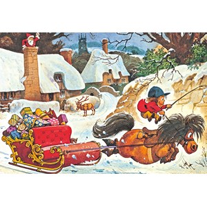 """Gibsons (G3090) - Norman Thelwell: """"A Thelwell Christmas"""" - 500 piezas"""