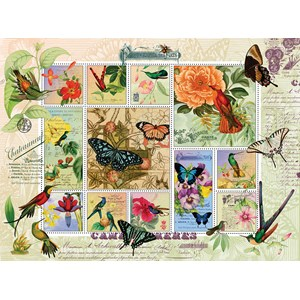 "SunsOut (55962) - Finchley Arts: ""Butterfly and Hummingbird Flight"" - 1000 piezas"